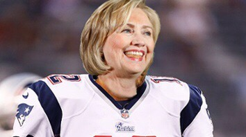 "Hillary Clinton signed by The New England Patriots after collusion efforts in ""Deflate Bernie-Gate"" are revealed!"