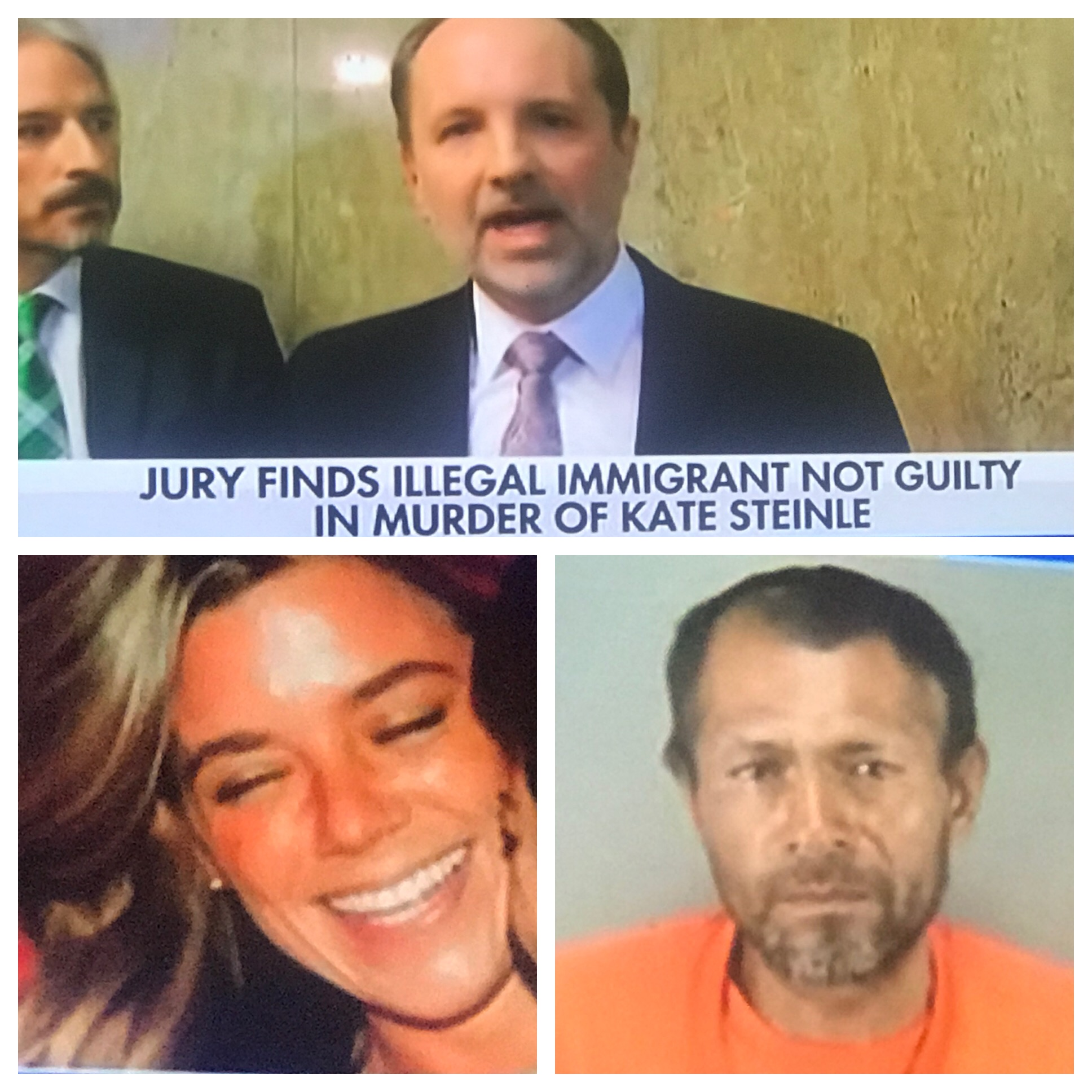 "Kate Steinle MURDERER,  Illegal immigrant VERDICT: NOT GUILTY. BY THE PEOPLE WHO ""HATE "" GUNS."